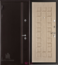 Металлическая дверь REGIDOORS Термодверь Норд коричневый Стандарт Беленый дуб