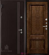 Металлическая дверь REGIDOORS Термодверь Норд коричневый Корсика Брэнди