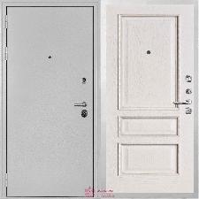 Входная дверь Двери Регионов Серебро Колизей Вена Белый с патиной