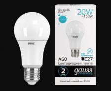 Светодиодная лампа Шар Gauss Elementary 20w E27 240v 4100k 1600lm SQ 23229