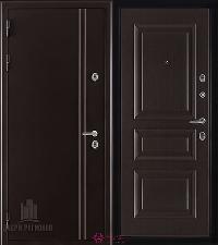 Металлическая дверь REGIDOORS Термодверь Норд коричневый Вена Венге