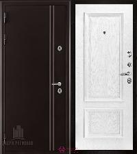 Металлическая дверь REGIDOORS Термодверь Норд коричневый Корсика Перла