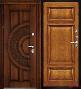 Входная металлическая дверь Двери Регионов Golden Атлант Мадрид Patina Antico