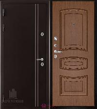 Металлическая дверь REGIDOORS Термодверь Норд коричневый Анастасия Орех