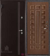 Металлическая дверь REGIDOORS Термодверь Норд коричневый Стандарт Орех