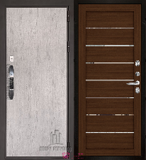 Входная дверь Двери Регионов NEW Новатор LIGHT 2125 Орех