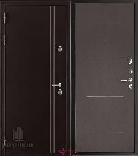 Металлическая дверь REGIDOORS Термодверь Норд коричневый Лайт Венге