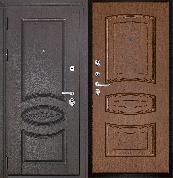 Входная металлическая дверь REGIDOORS Классика Премиум Орех Анастасия