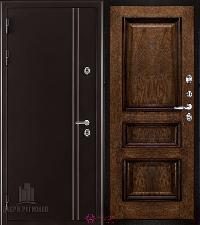 Металлическая дверь REGIDOORS Термодверь Норд коричневый Барселона Брэнди