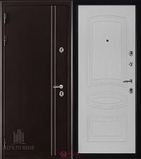 Металлическая дверь REGIDOORS Термодверь Норд коричневый Анастасия Ясень Жемчуг