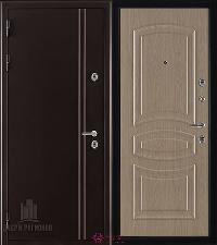 Металлическая дверь REGIDOORS Термодверь Норд коричневый Анастасия Беленый дуб