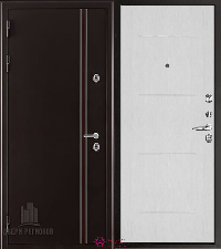 Металлическая дверь REGIDOORS Термодверь Норд коричневый Лайт Ясень Жемчуг