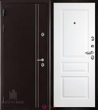 Металлическая дверь REGIDOORS Термодверь Норд коричневый Турин