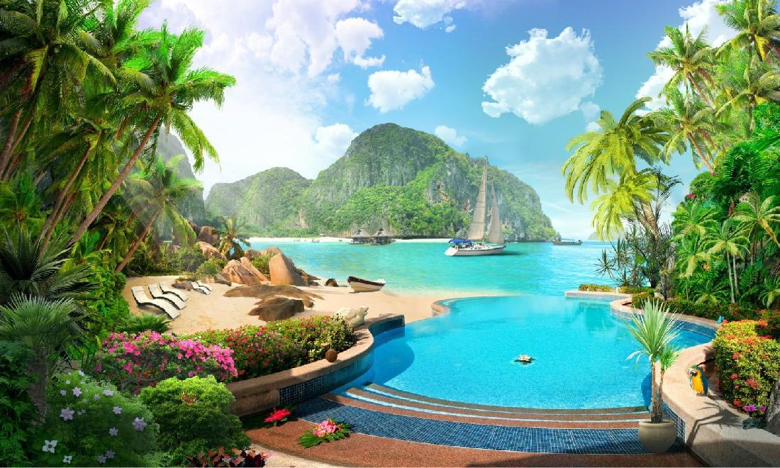 картинки райских уголков мира на прозрачном фоне
