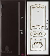 Металлическая дверь REGIDOORS Термодверь Норд коричневый Алина-2