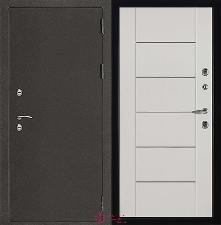 Металлическая дверь REGIDOORS Антик Термо 3 Лайт MD 003 Белый ясень