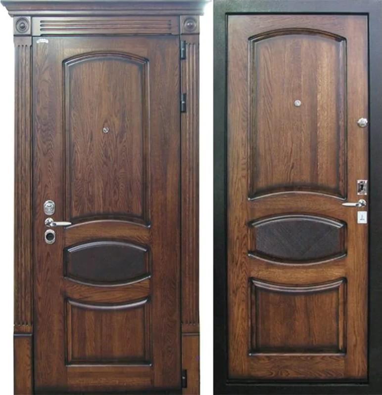 металлический элитные двери из дуба