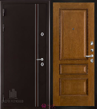 Металлическая дверь REGIDOORS Термодверь Норд коричневый Вена Дуб