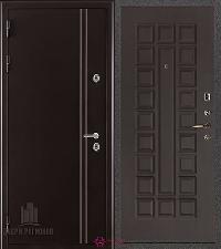 Металлическая дверь REGIDOORS Термодверь Норд коричневый Стандарт Венге