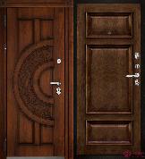 Входная металлическая дверь Двери Регионов Golden Атлант Мадрид Брэнди