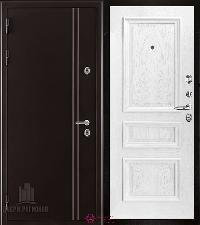 Металлическая дверь REGIDOORS Термодверь Норд коричневый Барселона Перла