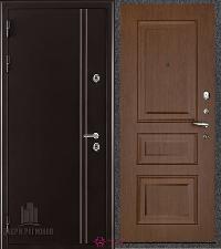 Металлическая дверь REGIDOORS Термодверь Норд коричневый Вена Орех