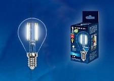 Светодиодная лампа Шар Uniel SKY Candle 6w E14 220v 3000k 0lm LED-G45-6W/NW/E14/CL
