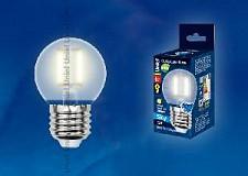 Светодиодная лампа Шар Uniel 5w E27 220v 3000k 500lm LED-G45P-5W/NW/E27/FR