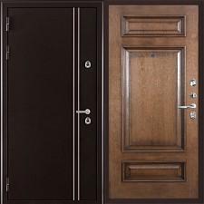 Металлическая дверь REGIDOORS Термодверь Норд коричневый Рим