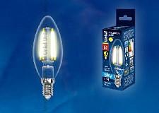 Светодиодная лампа Свеча Uniel 6w E14 220v 3000k 500lm LED-C35-6W/WW/E14/CL