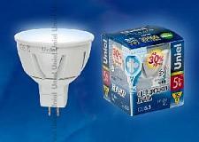 Светодиодная лампа Рефлекторная Uniel 5w GU5.3 220v 4500k 450lm LED-JCDR-5W/WW/GU5-3/FR/D