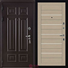 Дверь входная Двери Регионов Сенатор Марсель Меттэм 2127 Софт Кремовый