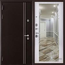 Металлическая дверь REGIDOORS Термодверь Норд коричневый Зеркало