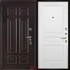 Дверь входная Двери Регионов Сенатор Марсель Меттэм Гармония Белая эмаль