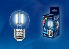 Светодиодная лампа Шар Uniel SKY Candle 6w E27 220v 4000k 0lm LED-G45-6W/NW/E27/CL