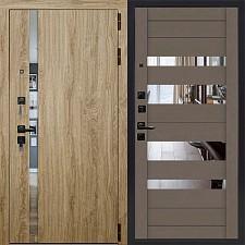 Дверь входная Двери Регионов 3К TESLA LW софт ясень грей зеркало графит