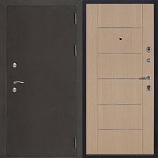 Металлическая дверь REGIDOORS Антик Термо 3 Лайт MD 003 Белёный дуб