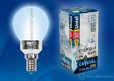 Светодиодная лампа Свеча Uniel 5w E14 220v 3000k 410lm LED-G45P-5W/NW/E14/FR
