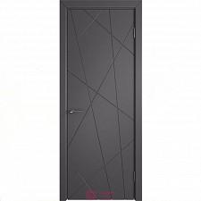 Межкомнатная дверь Владимирские двери Colorit К5  ДГ Графит эмаль