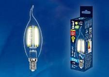 Светодиодная лампа Свеча на ветру Uniel 6w E14 220v 3000k 500lm LED-CW35-6W/WW/E14/CL