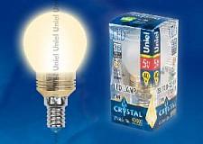 Светодиодная лампа Шар Uniel 5w E14 220v 3000k 420lm LED-G45P-5W/WW/E14/FR